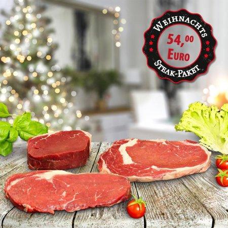 Großes Steak-Weihnachtspaket